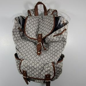 Aeropostale Gray and White Backpack
